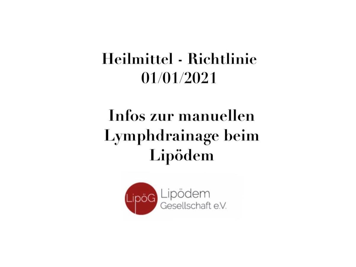 Informationen zur Heilmitte – Richtlinie vom 01.01.2021